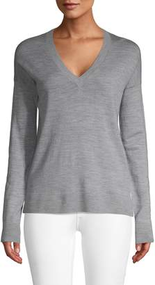 Zadig & Voltaire Graphic V-Neck Merino Wool Sweater