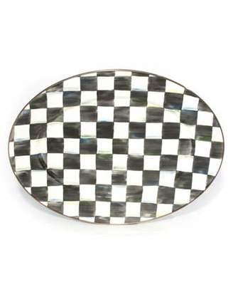 Mackenzie Childs MacKenzie-Childs Medium Courtly Check Oval Platter