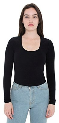 American Apparel Women's Reed Long Sleeve Crop Top $23.88 thestylecure.com