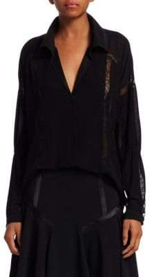 Halston Long Sleeve Button Down Shirt