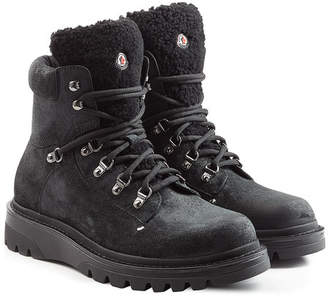 Moncler Suede and Shearling Boots