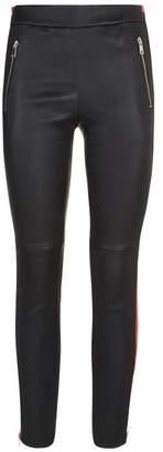 Alexander McQueen Leather Stripe Leggings