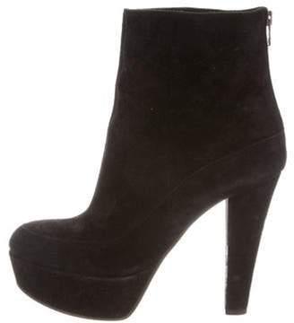 Marni Suede Platform Ankle Boots Black Suede Platform Ankle Boots