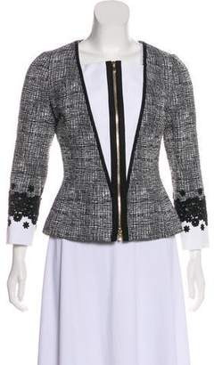 Andrew Gn Collarless Tweed Jacket