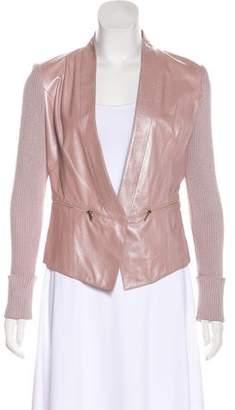 St. John Leather & Knit Jacket