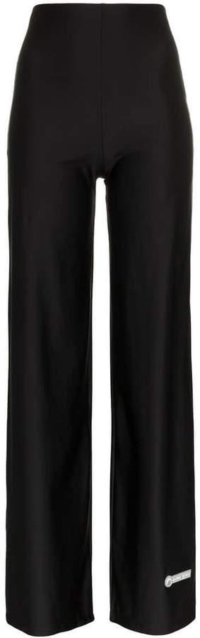 Marine Serre high-waisted flared leg trousers