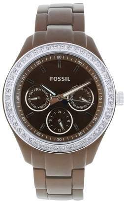 Fossil Women's Stainless Steel Analog with Dial Watch Brown ES2949