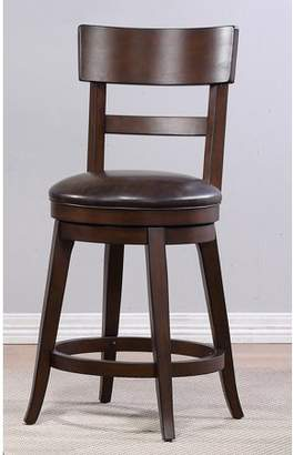 At Walmart.com · Unbrended Alex Counter Height Swivel Stool, Walnut