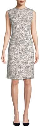 Oscar de la Renta Women's Printed Sheath Dress