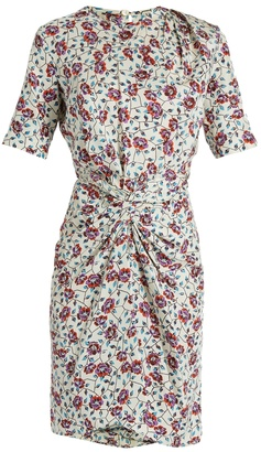 ISABEL MARANT Rehora floral-print silk-habotai dress $760 thestylecure.com