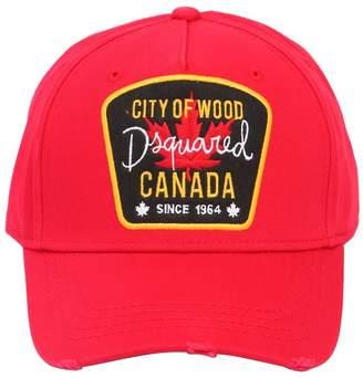 DSQUARED2 Canada Patch Gabardine Baseball Hat