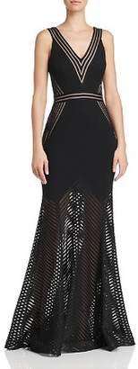 Avery G Illusion-Hem Mermaid Gown