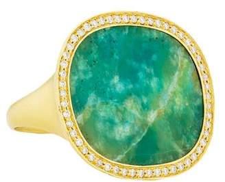 Monique Péan 18K Opalina & Diamond Cocktail Ring