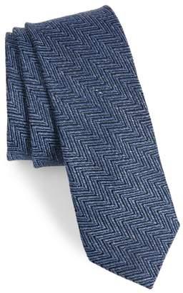 Ted Baker Chevron Silk & Linen Tie