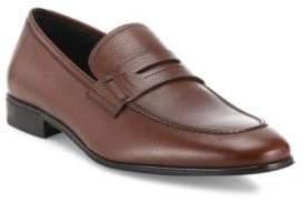 Salvatore Ferragamo Fiorino 2 Textured Leather Penny Loafers