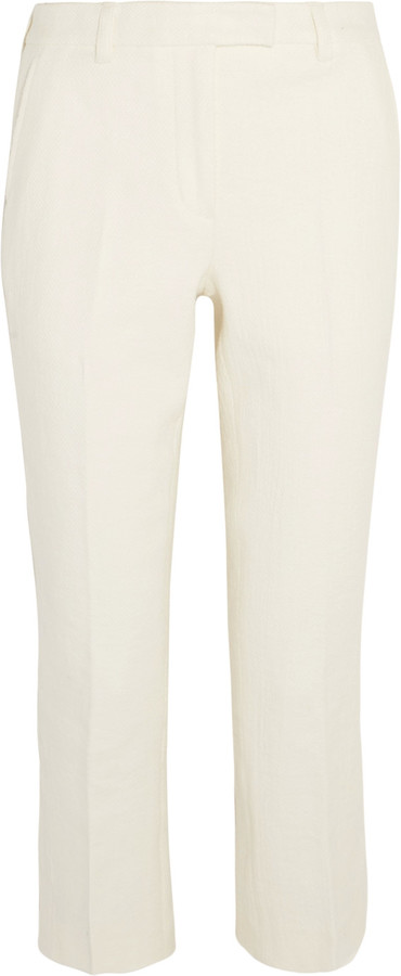 3.1 Phillip Lim 3.1 Phillip Lim Cropped cotton-blend crepe slim-leg pants