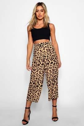 boohoo Petite Leopard Print Culottes