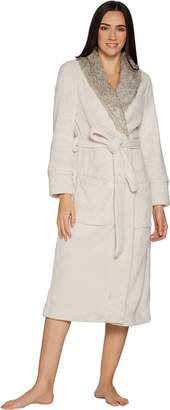 Berkshire Blanket Primalush Full Length Robe with Faux Fur Collar by Berkshire