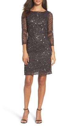 Women's Pisarro Nights Embellished Mesh Sheath Dress $168 thestylecure.com