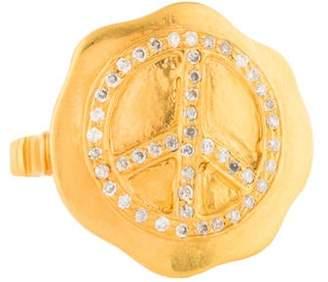 Ring 14K Diamond Peace Sign