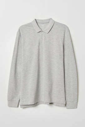 H&M Regular Fit Polo Shirt - Gray