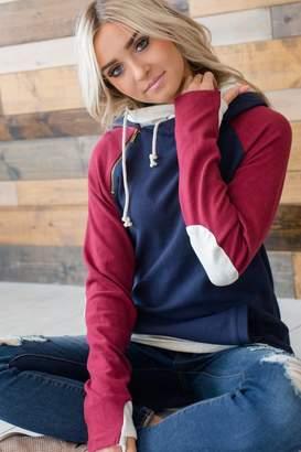 Ampersand Avenue DoubleHood Sweatshirt - Varsity Elbow Patch