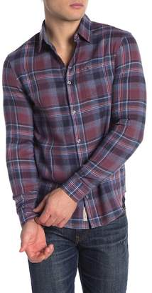 Original Penguin Twisted Yarn Plaid Long Sleeve Slim Fit Shirt