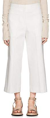 Jil Sander Women's Cotton Twill Wide-Leg Pants - White