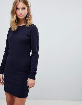 Only knitted crew neck dress