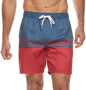 Trunks Men's Trinity Collective Barz Slim-Fit Striped Elastic Swim Shorts