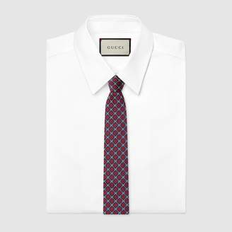 Gucci GG diamond silk tie