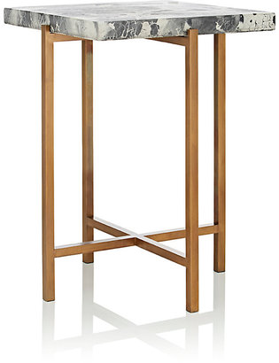 Kelly Behun Studio Concrete & Brass Side Table