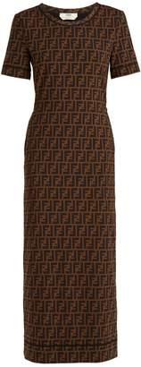 Fendi Logo-print jersey dress