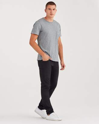 7 For All Mankind Luxe Performance Paxtyn Skinny Clean Pocket in Annex Black