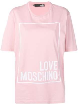 6c66f857b3b6 Love Moschino oversized logo print T-shirt