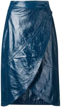 Givenchy wrap-around midi skirt