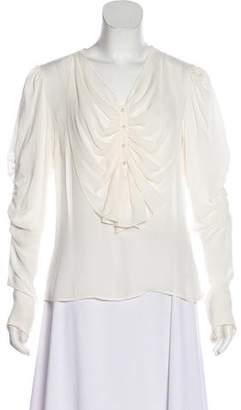 Rodarte Silk Long Sleeve Blouse