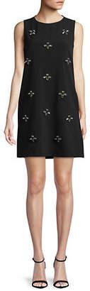 Nicole Miller NEW YORK Embellished Shift Dress