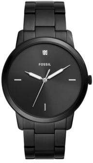 Fossil The Minimalist Diamond Stainless Steel Bracelet Watch