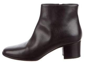 Chanel CC Square-Toe Ankle Boots