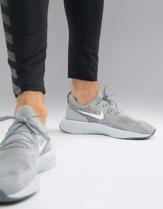 Nike Running Epic React Flyknit sneakers in grey aq0067-002