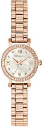 BCBGMAXAZRIA Ladies Rose GoldTone Bracelet Watch with Light Mop Dial, 24MM