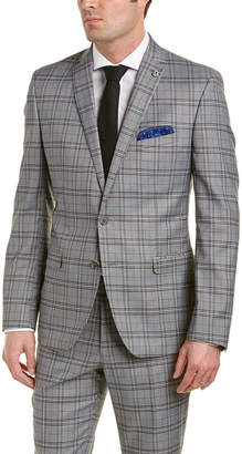 Nick Graham 2Pc Modern Fit Suit With Flat Front Pant