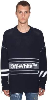 Off-White Off White Logo Cotton Knit Sweater