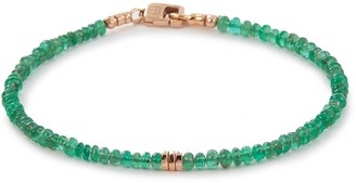 Tateossian 'Bamboo' emerald bead bracelet