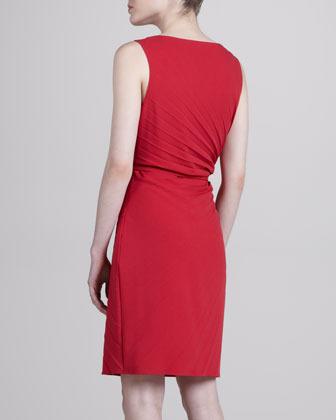 Laundry by Shelli Segal Sunburst Pleated Dress