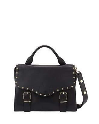 Rebecca Minkoff Biker Leather Doctor Bag, Black $345 thestylecure.com