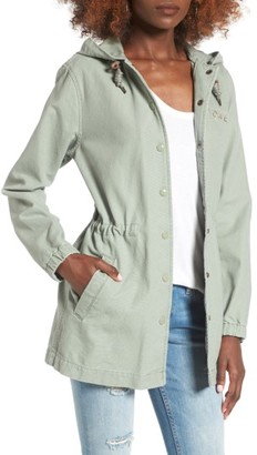 Women's Obey Overnight Hooded Parka $130 thestylecure.com