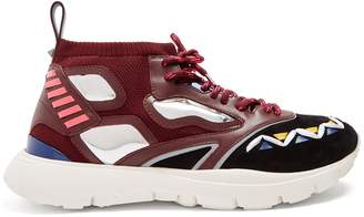 Valentino Heroes Reflex knitted trainers