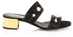 Rene Caovilla Pearl Mid-Heel Sandals